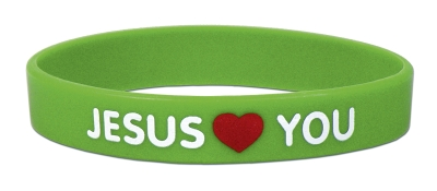 "Bekenntnis-Armband ""Jesus loves you"""