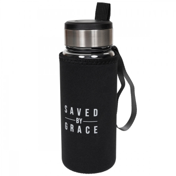 "Trinkflasche ""Saved by Grace"""